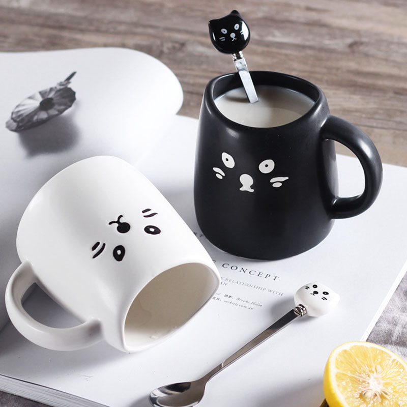 Black And White Cat Coffee Mugs Purrfect Boutique