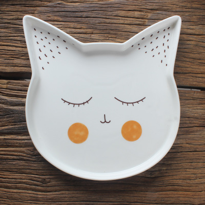 Nordic Style Fancy Cat Plate & Nordic Style Fancy Cat Plate - Purrfect Boutique